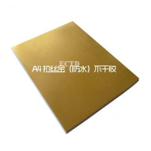50 Glossy Gold PET Sticker With Stripe A4 Size Waterproof For Laser Printer ONLY(China)