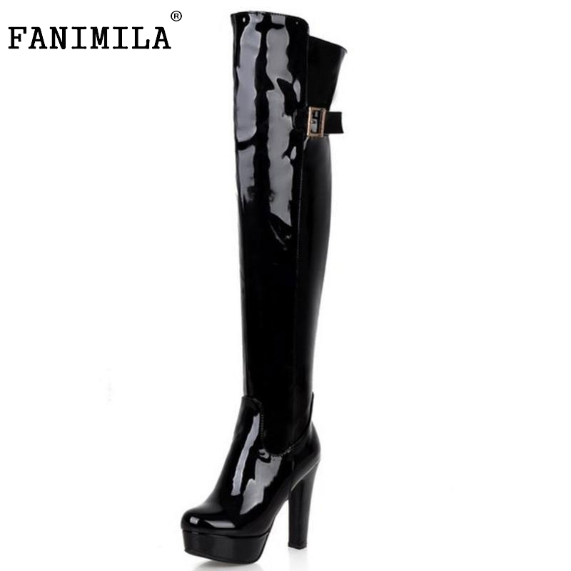 women over knee boots high heel ladies botas equestrian platform fashion long boot warm winter footwear shoes P22092 size 33-43<br><br>Aliexpress