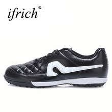 2017 New Soccer Shoes For Men Artificial Turf Football Sneakers Black Orange Cheap Men Soccer Cleats Comfortable Soccer Trainers(China)