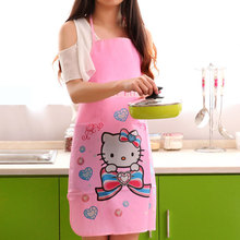 Mommy Kitchen Cooking Bath Cleaning PVC Waterproof Apron and Caps Long Sleeveless Cartoon Kit Bib Apron Gowns Suits for Women