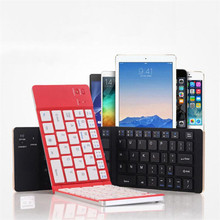 Reliable 2.4G wireless keyboard Portable Foldable Folding Wireless Bluetooth Keyboard Travel Stand(China)