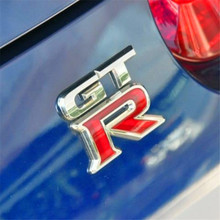 GTR Metal Chrome 3D Car Styling Emblem Badge Sticker GT-R Logo Decal Decoration For Nissan Racing Sport BMW M3 Ford Mustand Benz