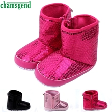 CHAMSGEND Best Seller baby shoes baby moccasins winter autumn Baby Sequins Soft Sole Warm Shoes Boots S40(China)