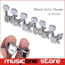 6PCS Guitar Tuning Pegs Tuner Machine Heads DIY FD Logo tuning peg machine head Chrome-Gold-Black(China)