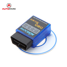 ELM327 V2.1 Advanced OBD 2 Scan Tools Auto Car Diagnostic Scanner OBD2 Bluetooth ELM 327 Russian Car-detector Diagnostic Tools(China)