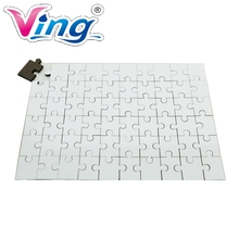 "20pcs / pack 7.8"" x 11.4"" White Rectangle Dye Sublimation Blank Jigsaw Puzzle Child Toy Heat Transfer(China)"