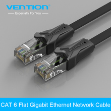 Vention CAT6 Flat Ethernet Cable 250MHz 1000Mbps CAT 6 RJ45 Networking Ethernet Patch Cord LAN Cable for Computer Router Laptop(China)