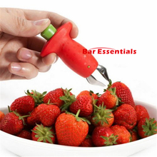 Red Strawberry Huller Strawberry Top Leaf Remover Gadget Tomato Stalks Fruit Knife Stem Remover Portable Kitchen Tool(China)