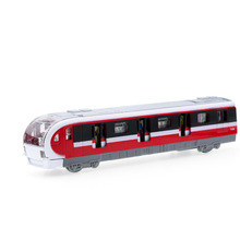 2017 Hot sell 1:36 Metro Train Diecast Alloy Metal Luxury Metro Model Collection Model Pull Back Toys Car Gift For Boy(China)