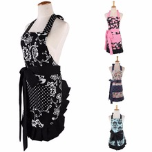 Women Retro Apron Flora Sexy Apron Kitchen Cooking Cotton Apron Home Cleaning Sleeveless Aprons Avent Cozinha Grembiule