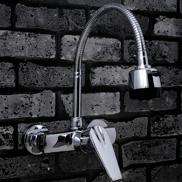 free shopping 360 Rotation Faucet Chrome Water Power Swivel Kitchen Sink Mixer Tap Single Handle BR-9101-3<br><br>Aliexpress