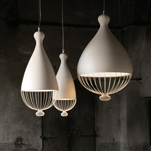 Nordic LOFT living room pendant lights restaurant Birdcage Designers Cafe Bar single-head personality pendant lamp