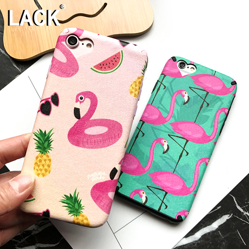 LACK Flamingos Phone Case iphone 7 Case Cartoon Fruit Animal Cover Fashion Heart Camera Window Cases iphone7 6 6S PLus