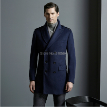 annefash Custom made Business Slim double breast men worsted wool cashmere coat