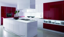 High gloss/lacquer kitchen cabinet mordern(LH-LA100)(China)
