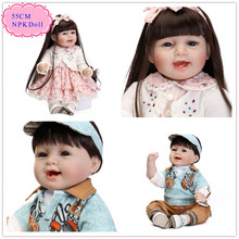 China Origin 55cm 22'' Real Baby Dolls For Sale With Unique Design Baby Doll Clothes Free Shipping Reborn Toddler Dolls For Kids(China)