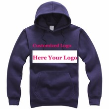 Heat Transfer Silk Screen Print Customized Logos Hoodie Unisex Photos custom logo professional design Promotional Products China(China)