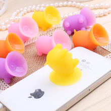 2pcs Cartoon Suction Cup Mini Pig Shape Mobile Phone Holder Stand Universal Cartoon Phone Sucker Holder Storage Holders&Racks ZM