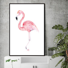 Watercolor Flamingo Canvas Art Print Painting Poster, Wall Pictures for Home Decoration, Giclee Print Wall Decor