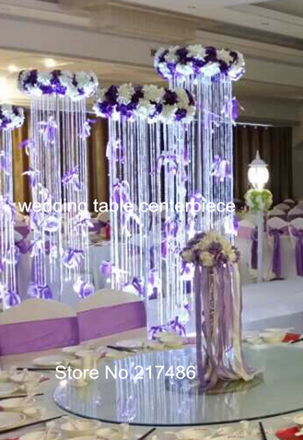 Aliexpress com buy free shipping crystal table top chandelier wedding table centerpieces