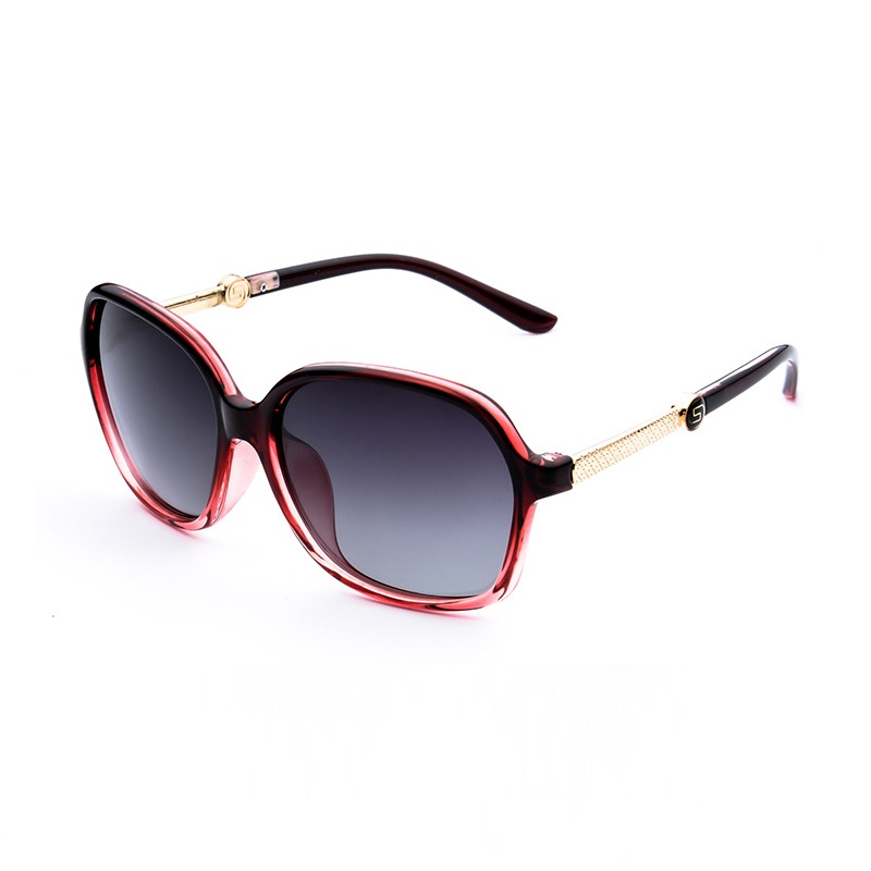 Width-145 Women Optical Myopia Sunglasses large Frame Glasses Polarized Colorful Prescription Eyewear Driver Finish Installation