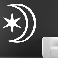DCTOP Hot Sale Simple Star And Moon Wall Sticker Bedroom Design Home Decor Vinyl Removable DIY Wall Decal