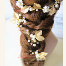 New Fashion Romance Bride Wedding Luxury Baroque Hairband Accessories Embellir wire bead hair jewelry