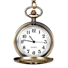 New Fabulous Pocket Watch Vintage Bronze Tone Spider Web Design Chain Pendant Men's Pocket Watch Gift Fashion Men Women Watches