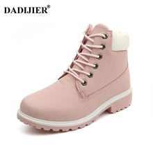 2017 Women boots Fashion Martin Boots Woman Snow Boots Outdoor Casual cheap timber boots Lover Autumn Winter shoes ST01(China)
