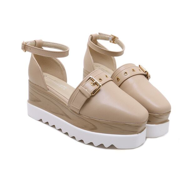 NEW Summer Wedge Sandals Joker Square Head Casual Sandals Airlift Women Shoes(China)