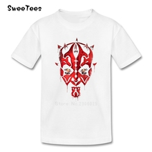 Darth Maul Emerges Boys Girls T Shirt Cotton Short Sleeve Crew Neck Tshirt Children Tees 2017 Customized T-shirt For Kids