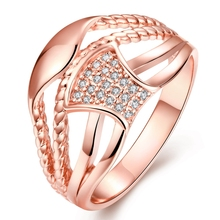 Fashion Multi Layer Braided Wave Unique Statement Fine Jewelry Austrian Crystal Rhinestone Gold Rings Bijoux Anel Aneis Feminino