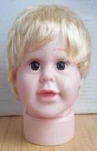 Free Shipping!! Lovely PVC Child Head Mannequin Fashionable Plastic Child Head Model On Sale