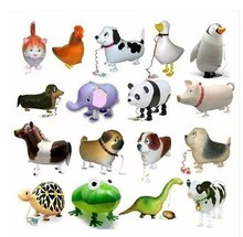 20pcs/lot Assortment Design Walking Pet Balloon Hybrid Models of Animal Cat Cow Dog Duck Birthday Balloons Children Party Toys