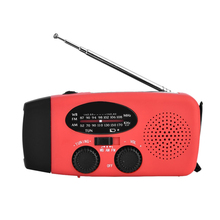 Radio Kits Mini Speaker Emergency Dynamo Solar Self Powered AM/FM/WB(NOAA) Radio with LED Flashlight Radio Am Fm Radio Portatil(China)