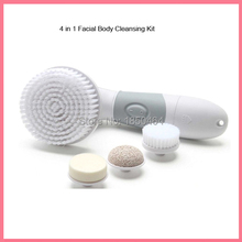 4 AA Battery Operated 4 in 1 Facial Body Cleansing Kit Brush