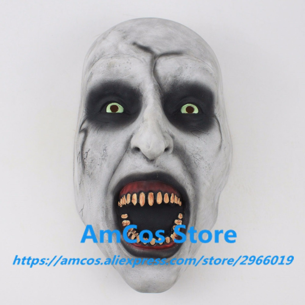 2018 The Nun Horror Mask Cosplay Valak Scary Half Face Latex Masks Helmet Halloween Party Props DropShipping6