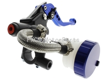 "Blue Universal 7/8"" CNC Brake Levers Master Cylinder Reservoir Clutch For YAMAHA YZF R125 125-300CC Motorcycle"