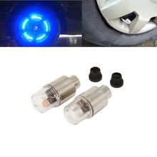 POSSBAY 20pcs 10 pairs cars/motocycles/bicycles light with battery mountain road blue lights LEDS Tyre Tire Valve Caps Wheel