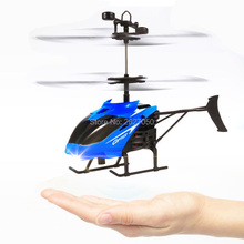 Flying Mini RC Helicopter Radio Remote Control Aircraft Flashing Light toys gifts for children kids floating toy(China)