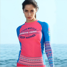 SABOLAY women lycra rashguard shirts Surf quick drying clothing suit skirt beach suit protect hurt by jellyfish sunshine UPF 50+