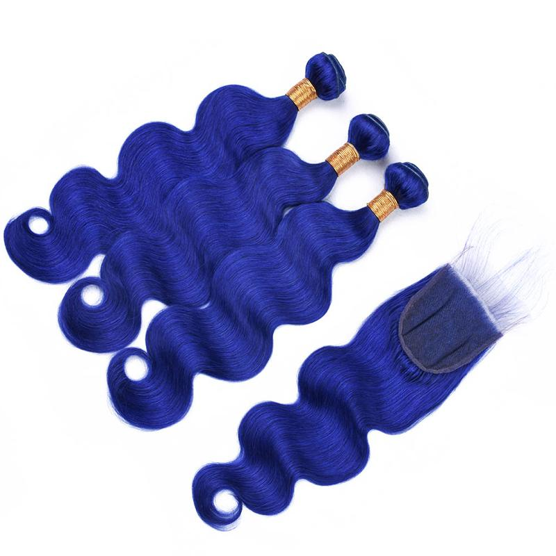 brazilian hair weave bundles with closure