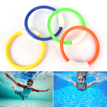 Hot Summer Kid Underwater Diving Ring Sport Diving Buoys Four Loaded Throwing Toys 4Pcs Dive Rings Swimming Pool Diving Game(China)