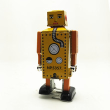 Antique Style Tin toys Robots wind up toys for children home decor metal craft MS651robot(China)