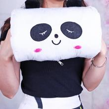 Cute Cartoon Panda Plush Toys Winter Hand Warmer Soft Baby Pillow Kids Toys Gift PP Cotton Stuffed Animal Dolls New Style