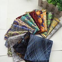 2016 Factory Fashion Men's Silk Polyester Handkerchifs Luxury Floral Pocket Square Hanky Business Wedding Christmas Chest Towel(China)