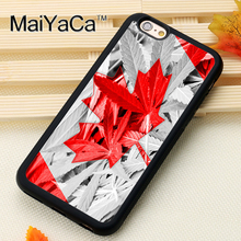 Canada Weed Flag Printed Soft Rubber Mobile Phone Cases Accessories For iPhone 6 6S Plus 7 7 Plus 5 5S 5C SE 4 4S Cover Shell