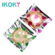 Buy IKOKY Delay Ejaculation Cock Cage Female G-spot Vaginal Reusable Condom Penis Sleeve Cock Ring Penis Ring Sex toys Men Male