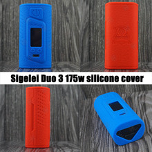 2pcs Colourful Sigelei Fuchai Duo 3 175W 175 Watts USB TC Mod Silicone Case with 13 different colors for your choice free ship(China)