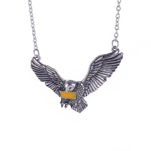 Owl necklace Hedwig vintage antique silver pendant jewelry for men and women wholesale